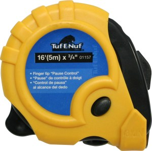 16′ (5m) x 3/4″ Rubber Jacket Tape Measure