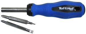 4-in-1 Multi Bit Screwdriver with Soft Touch Handle