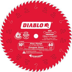Diablo 10 In. Slide Mitre Blade – 60 Teeth