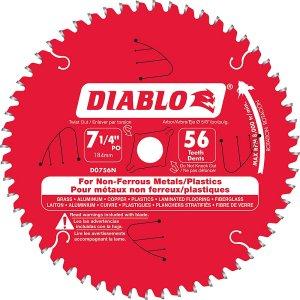 Diablo Non-Ferrous Blade 7-1/4 x 56 teeth