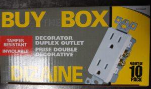 Buy The Box (10 pack) – Decorator Duplex Outlet – Tamper Resistant