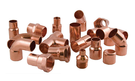 Copper fittings at Kelly Lake