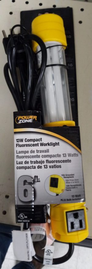 6 ft, 13w Florescent Worklight