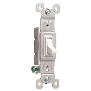 15-Amp White Single Light Switch