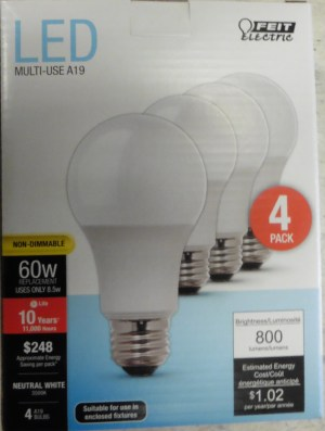 LED Light Bulbs 60w – 4pk