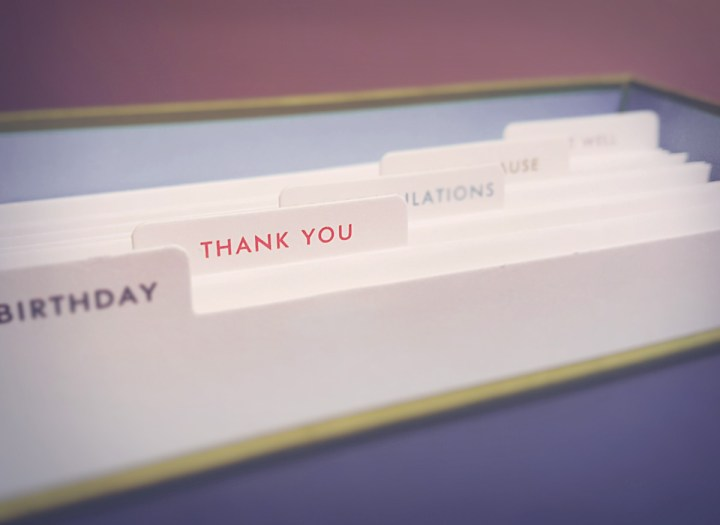 featured thank you card section in a kate spade variety note box