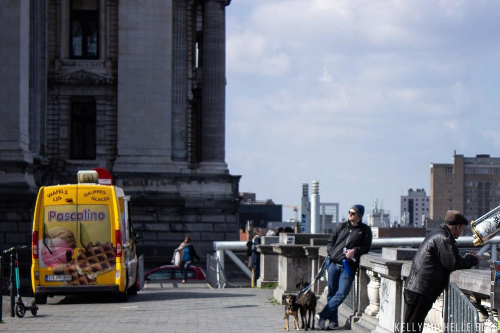 Walking tour in Brussels.