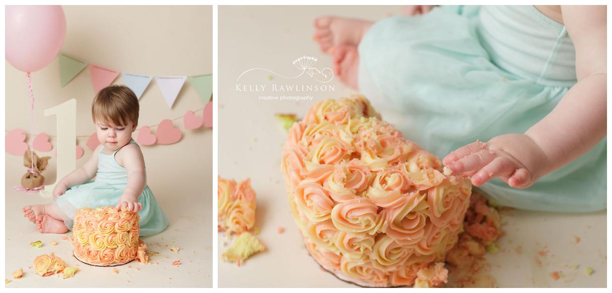 Keswick cake smash photography, Newmarket, Sutton, Georgina, First birthday, photography, photographer, photo, pic, shoot, picture