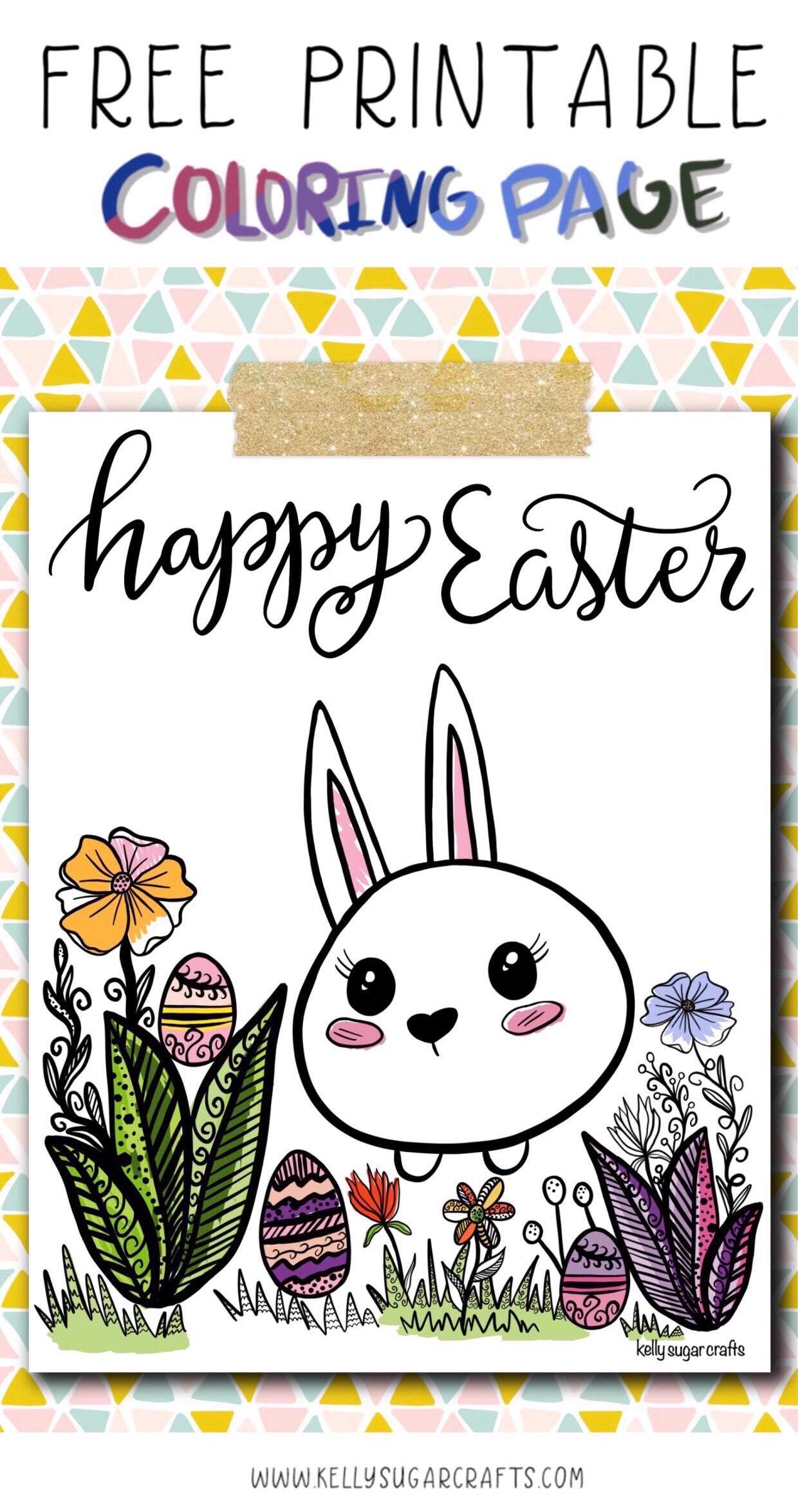 free printable easter coloring page kelly sugar crafts