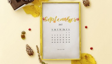 September 2017 Printable Calendar Wallpapers by Kelly Sugar Crafts