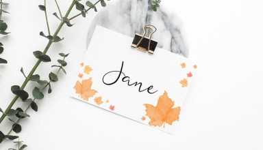Free Fall Thanksgiving Printables | Place cards, food tents, cupcake toppers, gift tags | Kelly Sugar Crafts