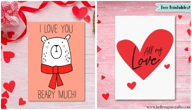 Valentine's Day Cards Printables by Kelly Sugar Crafts