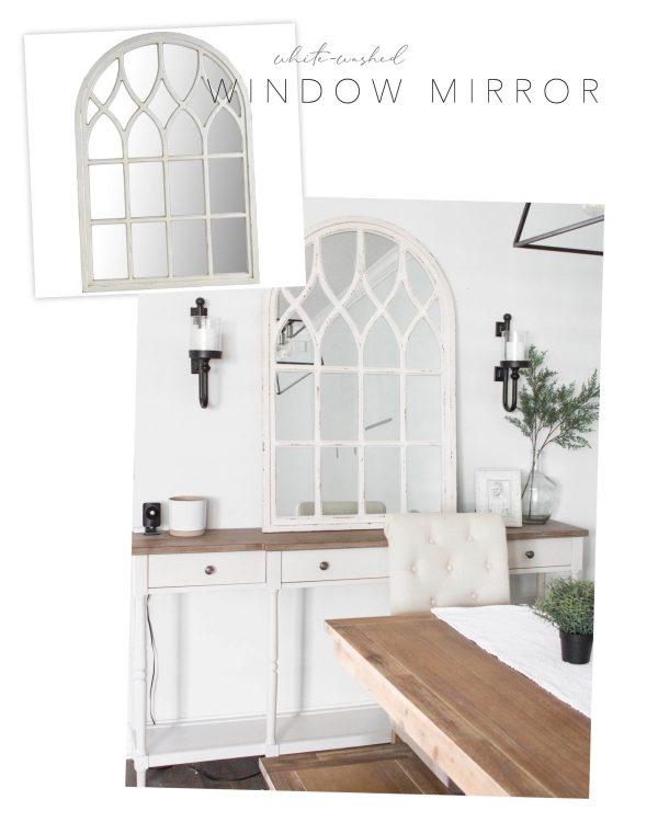 Pier 1 dupe large window mirror