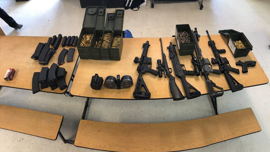KELO Rosebud Sioux Tribe weapons founds