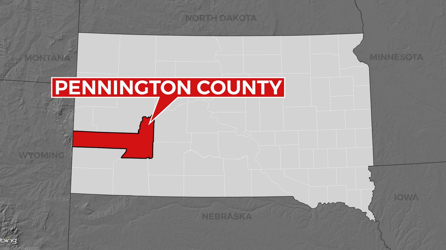 Pennington County Map