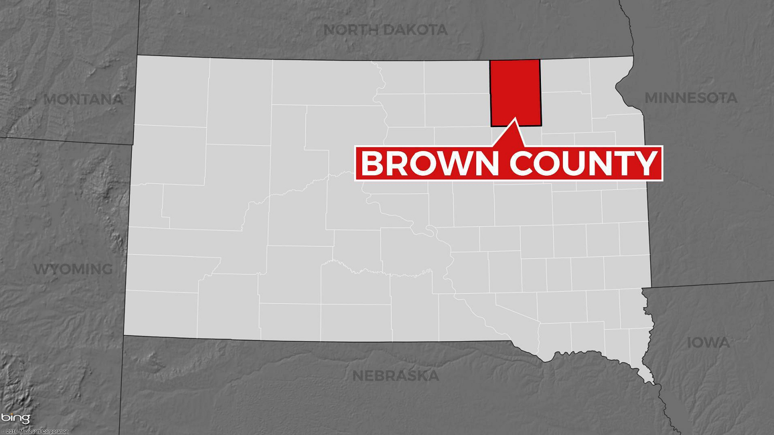 KELO Brown County map locator