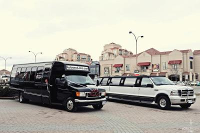 Limo bus and Excurison picture at the bridal show
