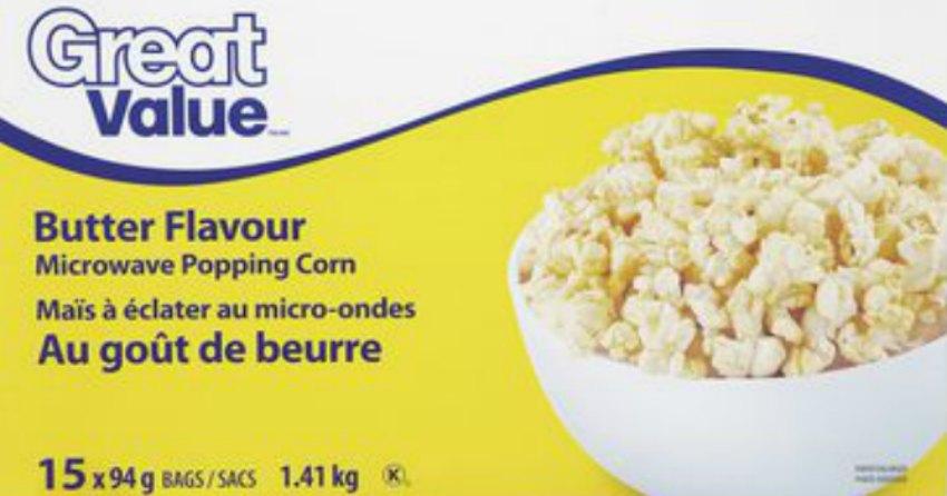great value brand popcorn recalled due