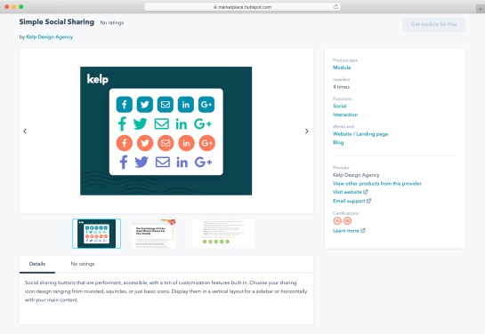 simple-social-sharing-hubspot-module