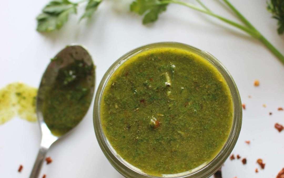 Homemade Green Chimichurri Sauce