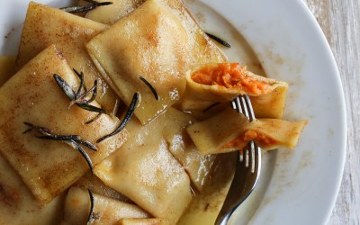 Sweet Potato Ravioli with Rosemary Brown Butter