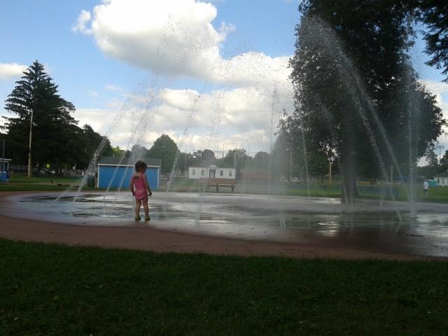 Rayleigh at a Saratoga Sprinkler Park.