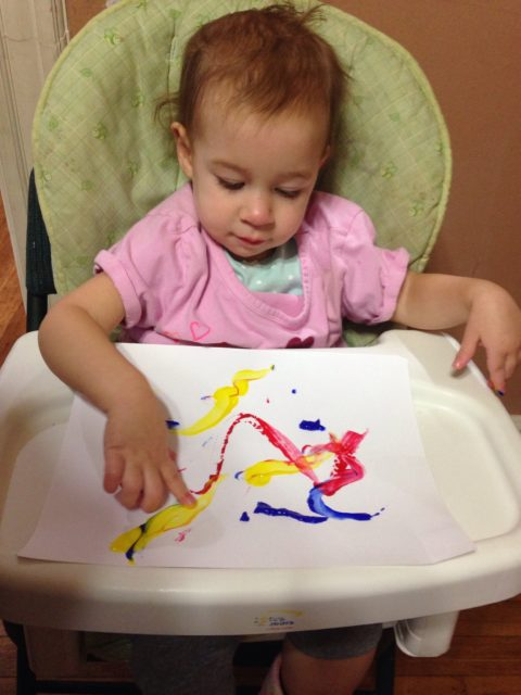 Ainsley Finger Painting