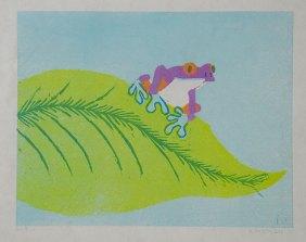 Tree Frog, purple - Relief multi-block, 2011