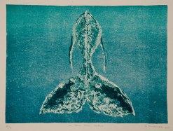 """La Balla della Balena - 11x15"""" Lithograph, 2013"""