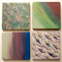 Purples & Blues tile set - SOLD
