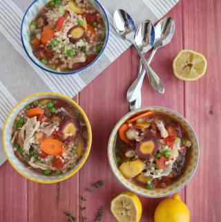 Lemon Chicken Soup with Israeli Cous Cous