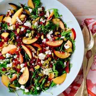 Stone Fruit Salad with Sherry Vinaigrette