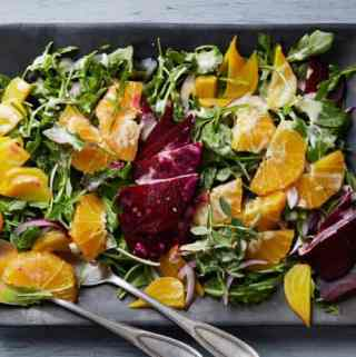Roasted Beet Salad with Oranges & Creamy Goat Cheese Dressing