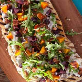 Beet, Bacon & Goat Cheese Flatbread