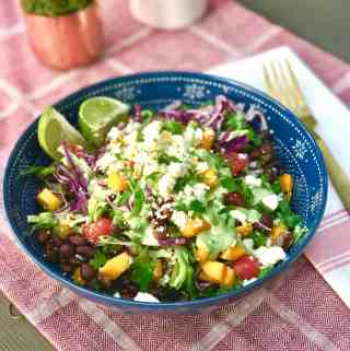 Quinoa Burrito Bowl with Cilantro Lime Dressing