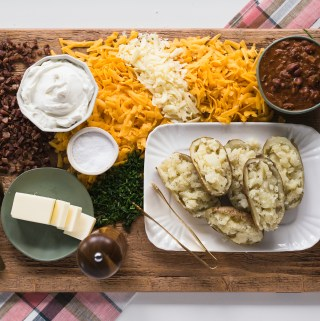 Baked Potato Snack Board Supper