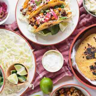 Sweet Potato Cauliflower Tacos