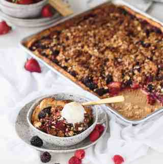 Berry Cobbler Slab Pie