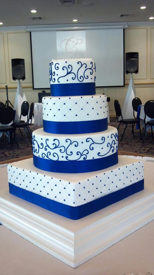 Wedding Cakes Kelsey s Kakes Royal Blue Wedding Cake