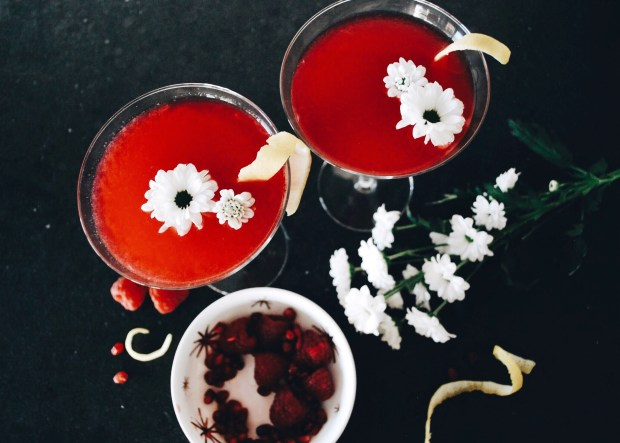 The Easiest Pomegranate Martini