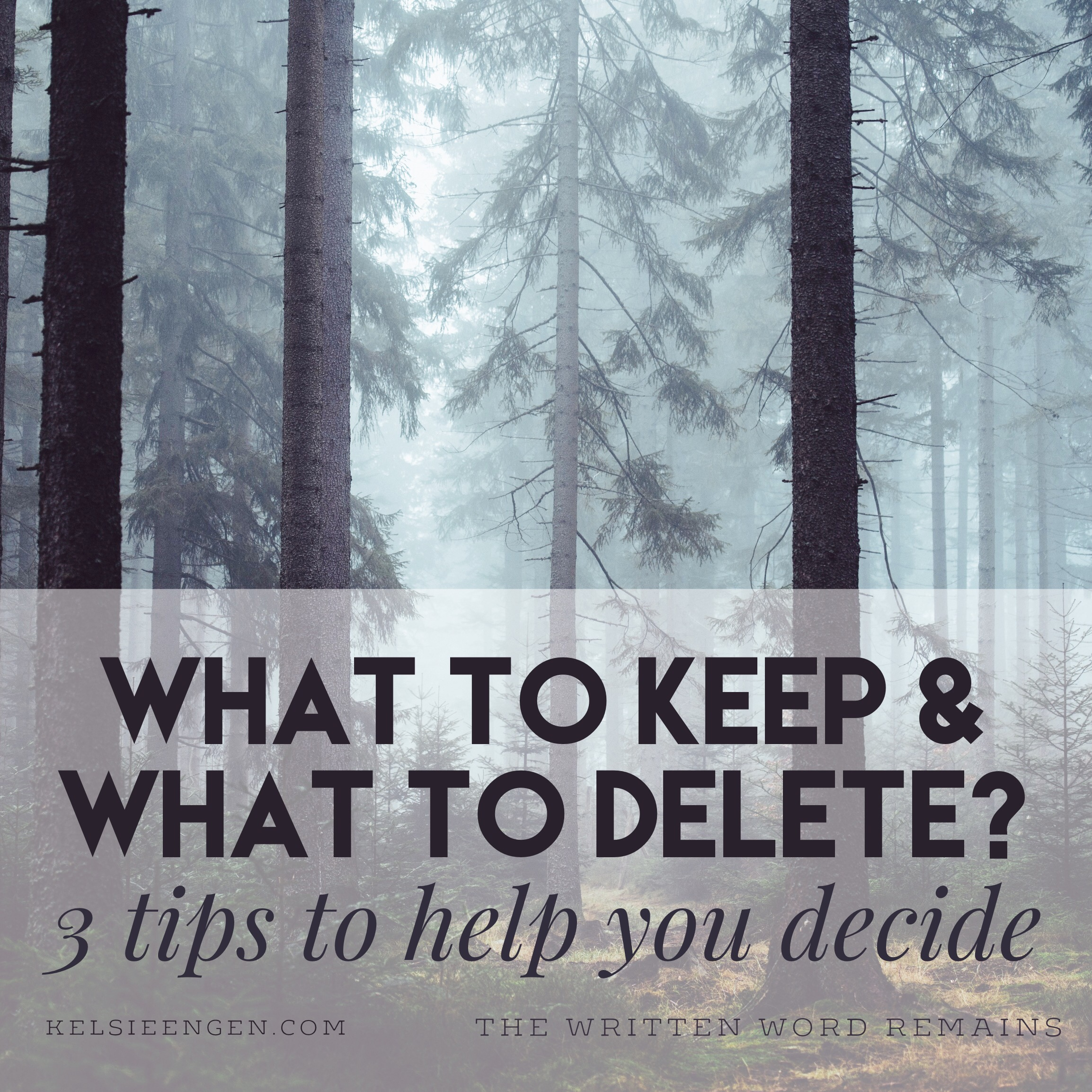 What to Keep & Delete in Your WIP? 3 Tips to Help You Decide