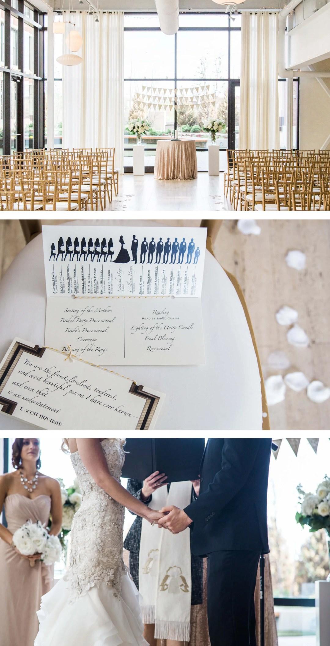 Chicago Greenhouse Loft wedding ceremony _ Brighton Wedding Photographer