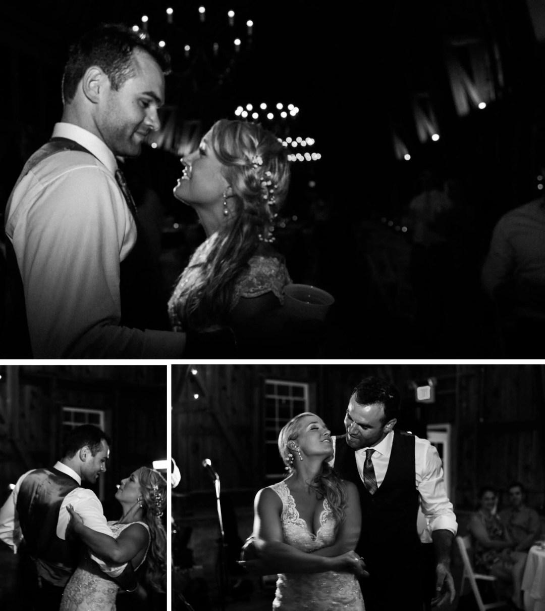 West Sussex Wedding Photographer - Barn reception first dance