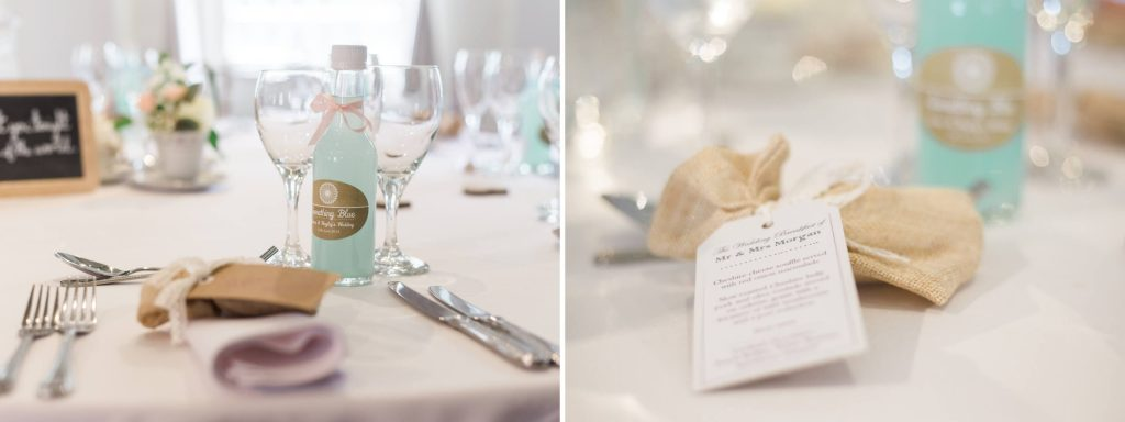 Quarry Bank Mill reception table settings - Brighton wedding photography