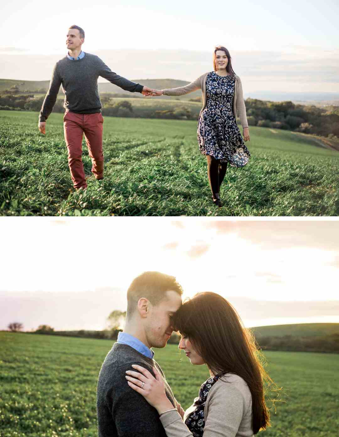 Brighon Engagement Photographer _ South Downs engagement shoot on South Downs