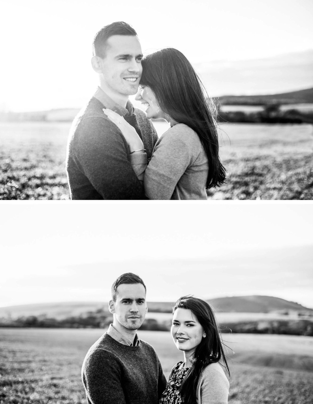 Brighton Engagement Photographer _ Engagement shoot on South Downs, West Sussex
