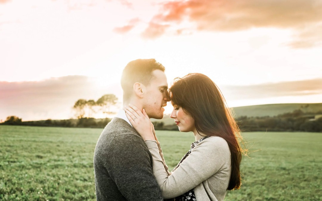 West Sussex Engagement Photographer | On the South Downs with Ben + Steph
