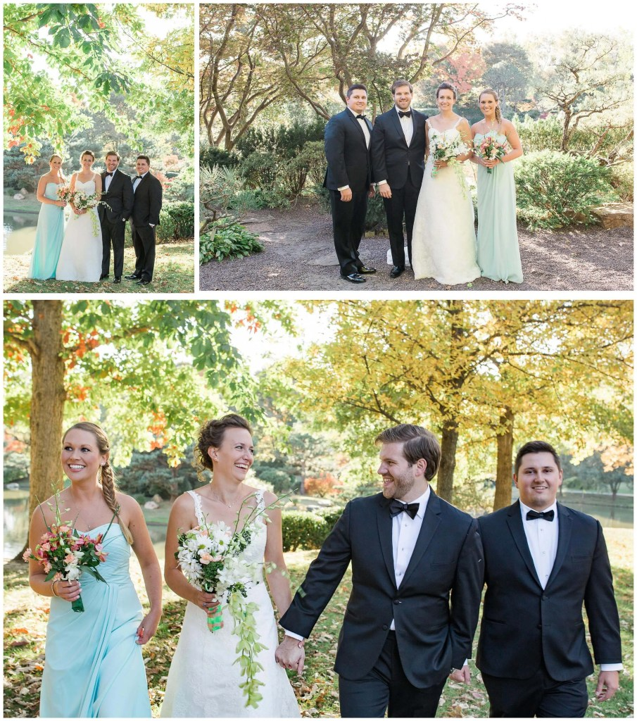 St. Louis Botanical Bridal Party Photos - Brighton International Wedding Photographer