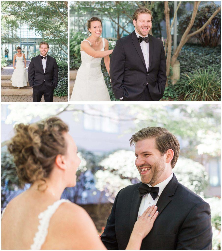 St. Louis Union Station First Look - Brighton Wedding Photographer