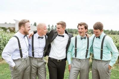 Fossa Mala Destination Wedding Groom with Ushers Wedding Photo